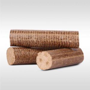 Dřevěné brikety válcové Hard 960 kg