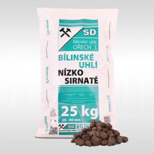 bílinské hnědé uhlí ořech 1