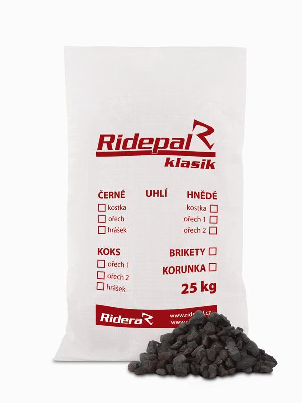 Antracit pytlované uhlí Ridepal