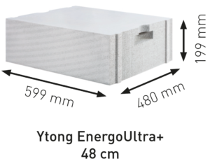 Ytong tvárnice Energo Ultra+ PP2,2/03 S+GT 48